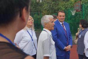 Мэр города Сочи и министры Краснодарского края на площадке нашего двора 2018