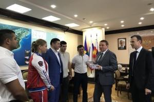 Встреча главы города Сочи со спортсменкой  Анастасией Шамоновой 2018