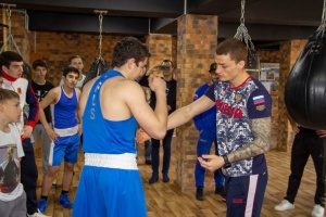 Встреча спортсменов СШОР3 с национальной сборной по боксу 2020